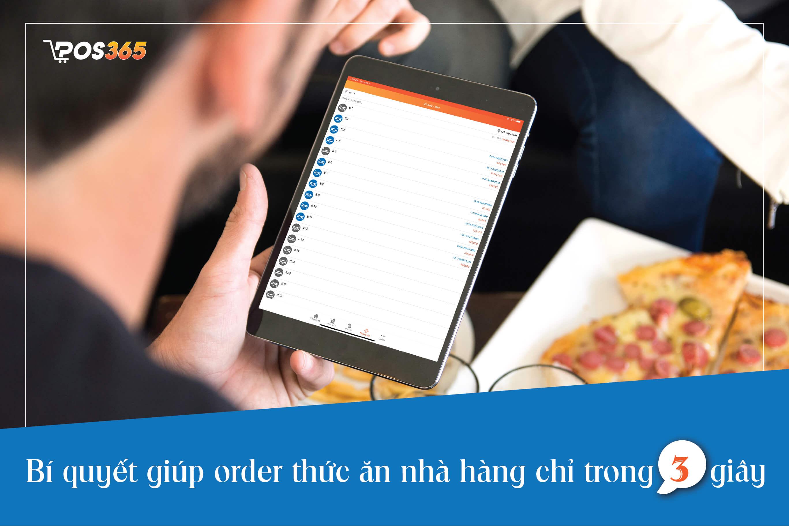 Bí quyết giúp order thức ăn nhà hàng chỉ trong 3 giây
