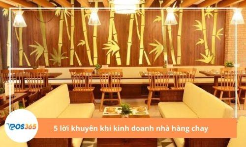5 lời khuyên khi kinh doanh nhà hàng chay