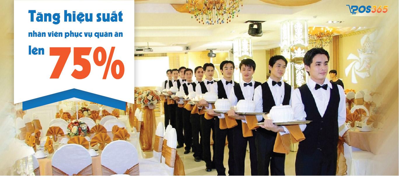 Tăng hiệu suất nhân viên phục vụ quán ăn lên 75%