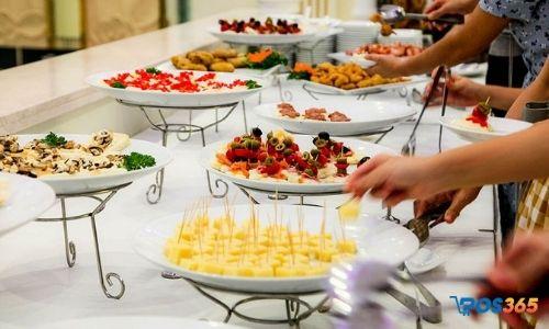 quy trình phục vụ buffet