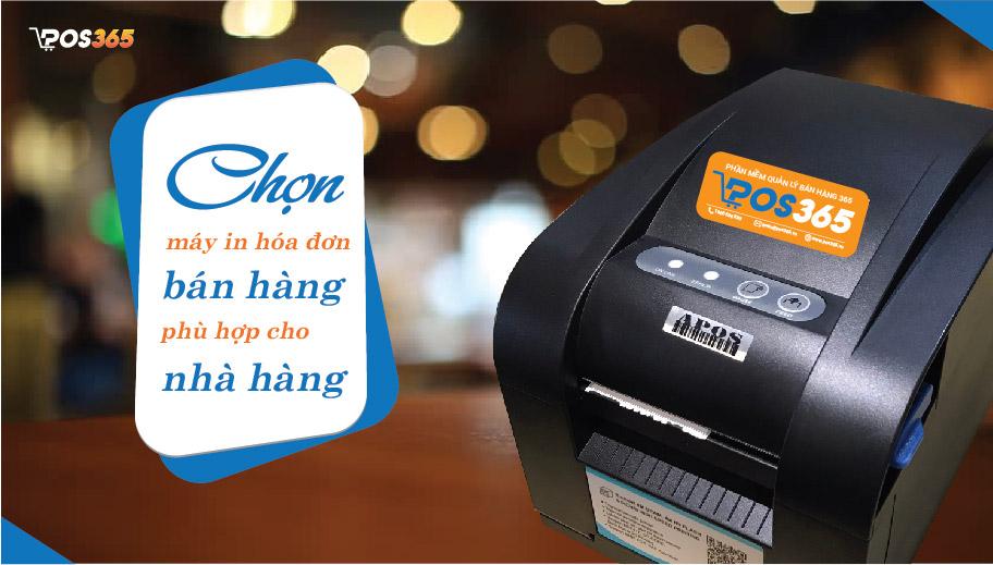 Chọn máy in hóa đơn bán hàng phù hợp cho nhà hàng