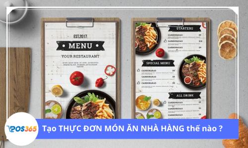 Làm thế nào để tạo một thực đơn món ăn nhà hàng?