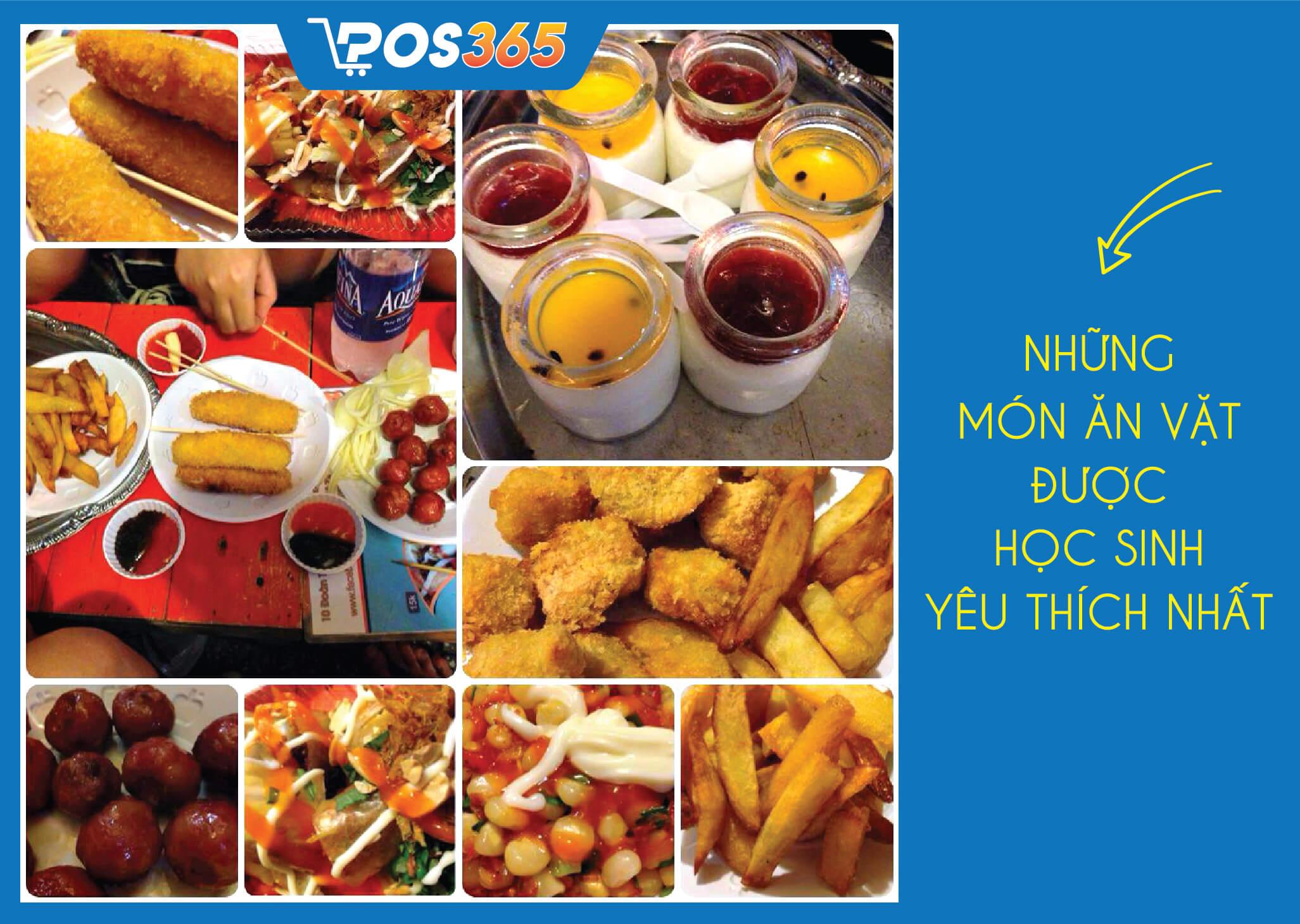 những món ăn vặt bán cho học sinh