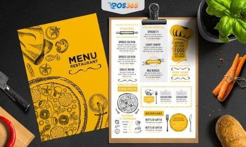 menu đồ ăn vặt đẹp