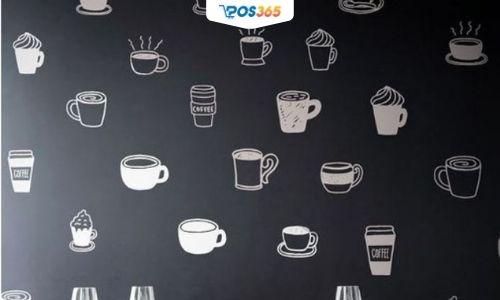 trang trí tường quán ăn