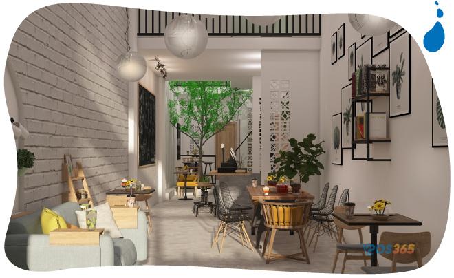 Decor quán cafe không gian nhỏ đẹp