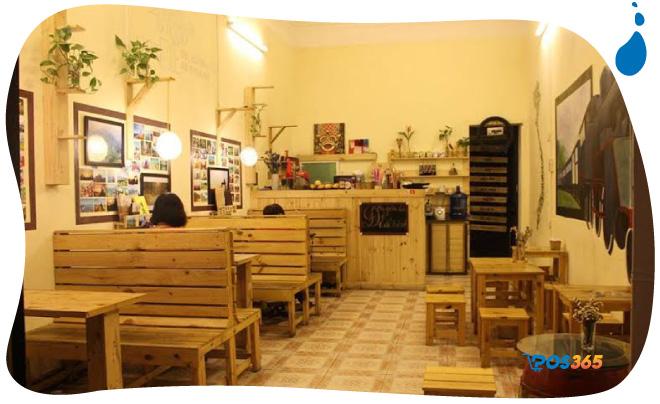 Decor quán cafe mộc