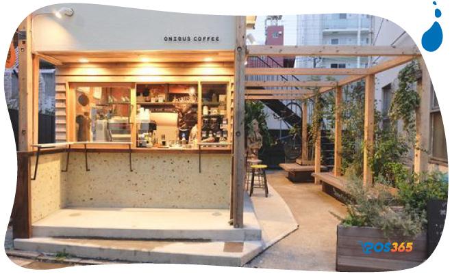 decor quán cafe take away