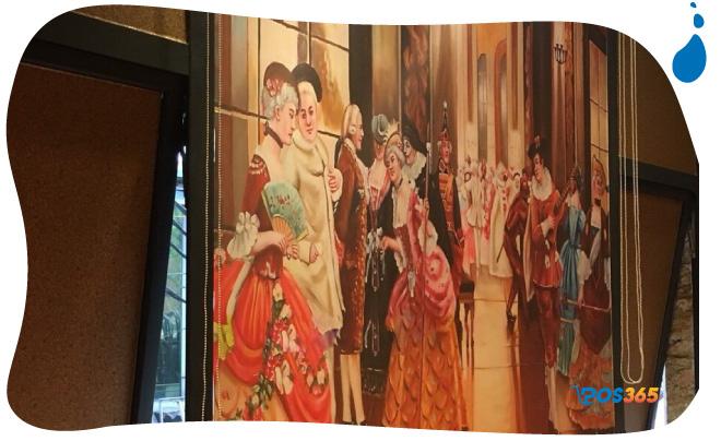tranh tường cho quán cafe