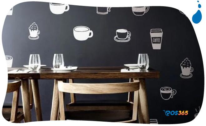 decal cho quán cà phê