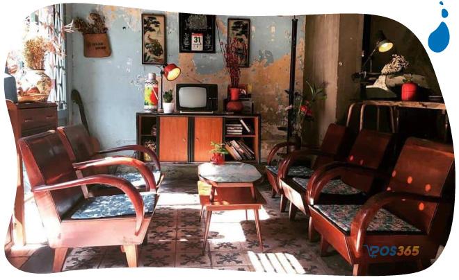 decor quán cafe vintage
