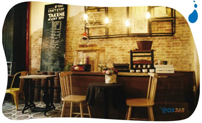 trang trí quán cà phê phong cách vintage