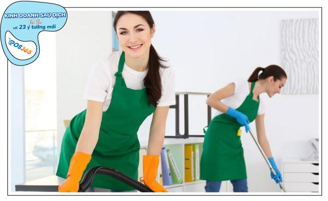 kinh doanh Dịch vụ vệ sinh sau dịch