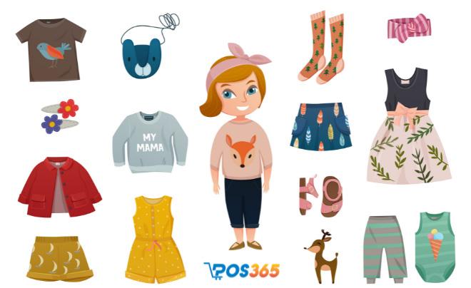 Những sản phẩm kinh doanh tại cửa hàng mẹ và bé