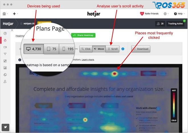 Phần mềm Hotjar