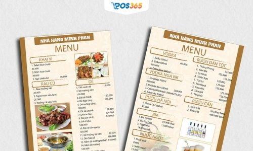 bảng dự toán chi phí mở quán ăn
