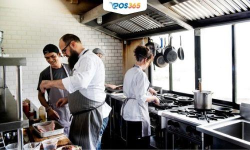 cách bố trí bếp nhà hàng