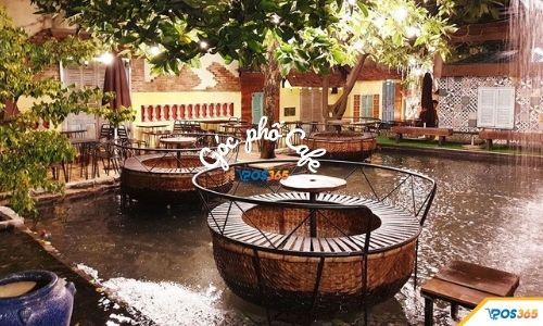 quán cà phê cá koi đẹp