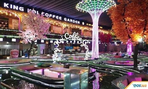 quán cafe cá koi