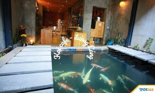 quán cafe cá koi đẹp