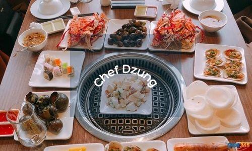 Chef Dzung - buffet hải sản được yêu thích nhất tại Hà Nội