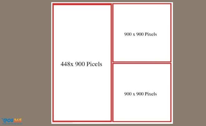 Kích thước 1 ảnh đứng và 2 ảnh nhỏ