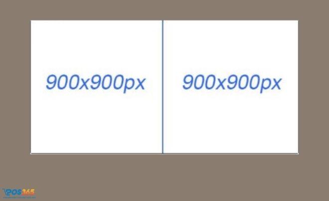 Kích thước ảnh quảng cáo 2 hình đứng đều nhau