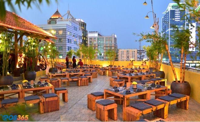 Phong cách quán cafe sân thượng