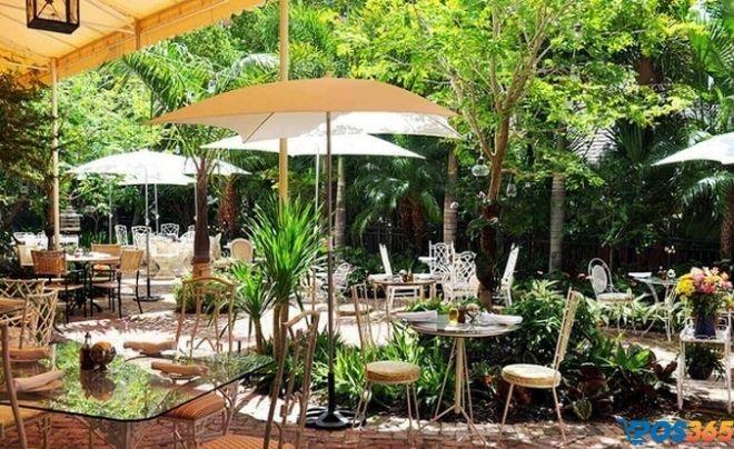 Quán cafe phong cách sân vườn