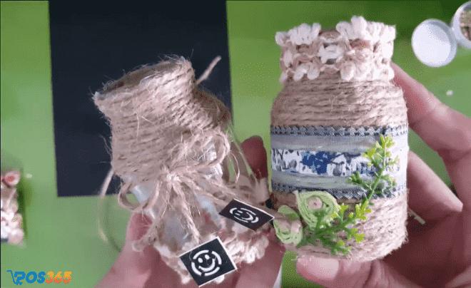 Làm đồ handmade từ lọ thủy tinh