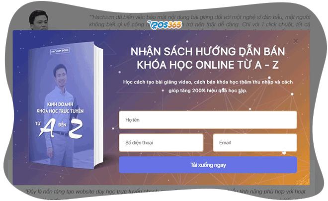 popup nhận email marketing trên website