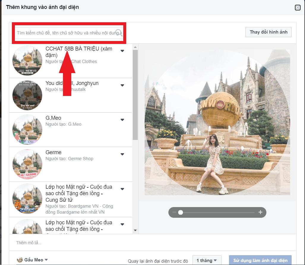 hướng dẫn thay đổi khung avatar facebook