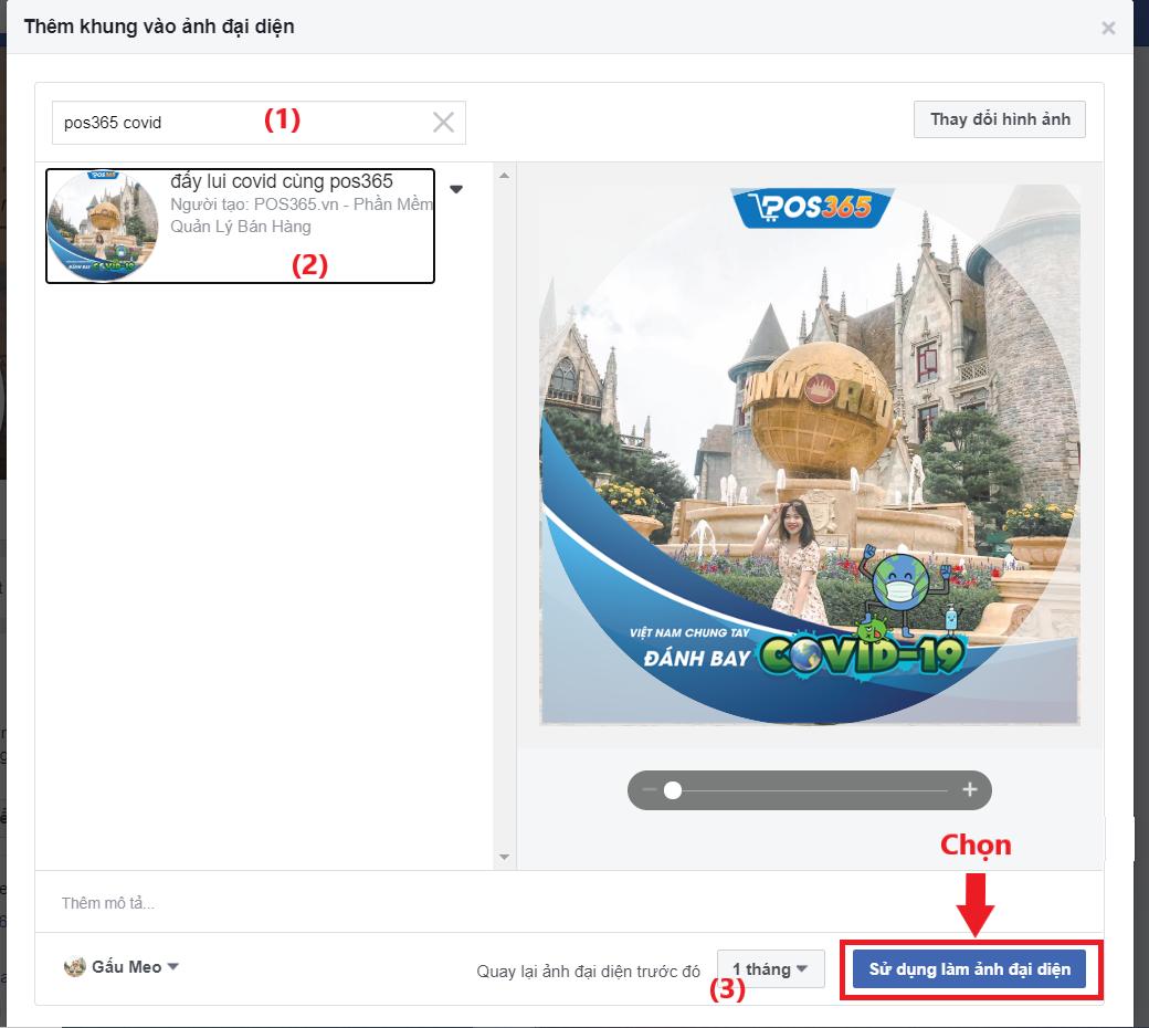 thay đổi khung avatar facebook