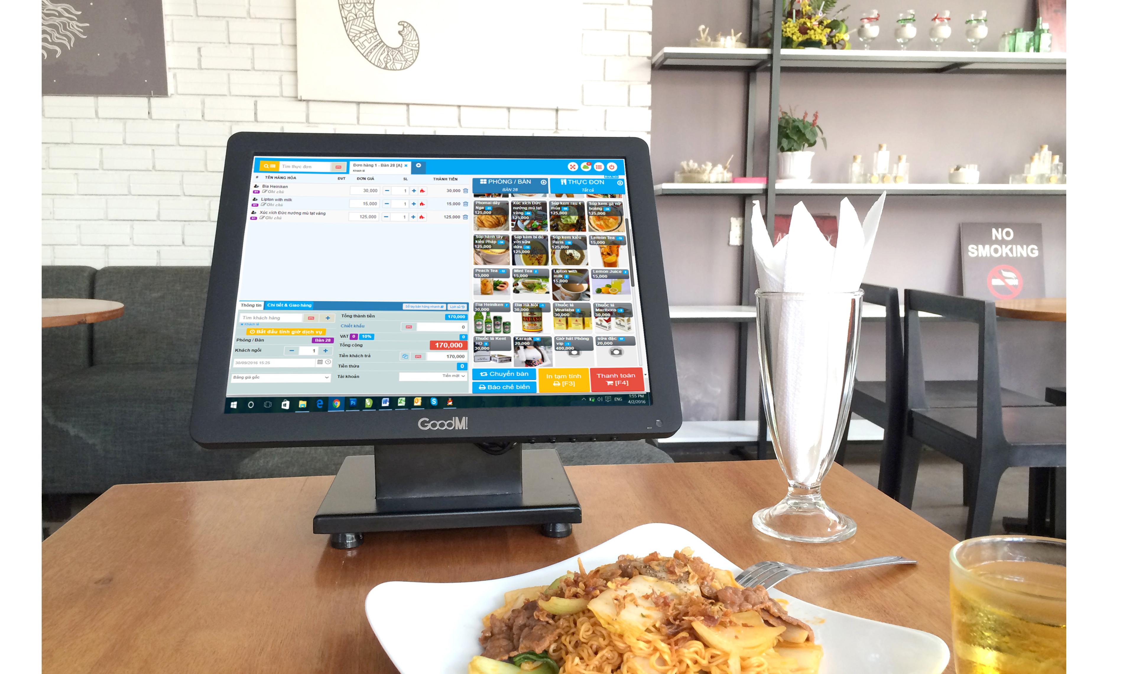 Máy tính tiền chuyên dụng cho những nhà hàng lớn PRO.GM365