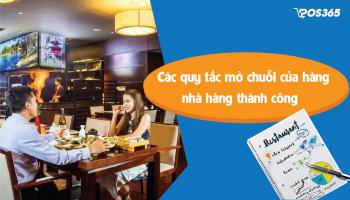 Các quy tắc mở chuỗi cửa hàng nhà hàng thành công