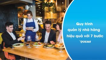 Quy trình quản lý nhà hàng hiệu quả với 7 bước