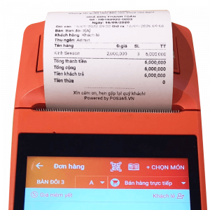Máy bán hàng cầm tay thông minh POS365 Sunmi V1S