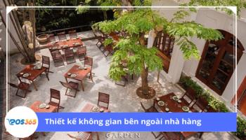Bật mí cách thiết kế nhà hàng sân vườn đẹp từ chuyên gia