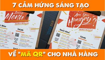 7 Cảm hứng sáng tạo về mã QR cho nhà hàng