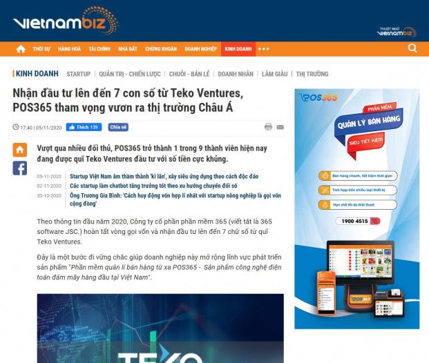 POS365 trên báo vietnambiz
