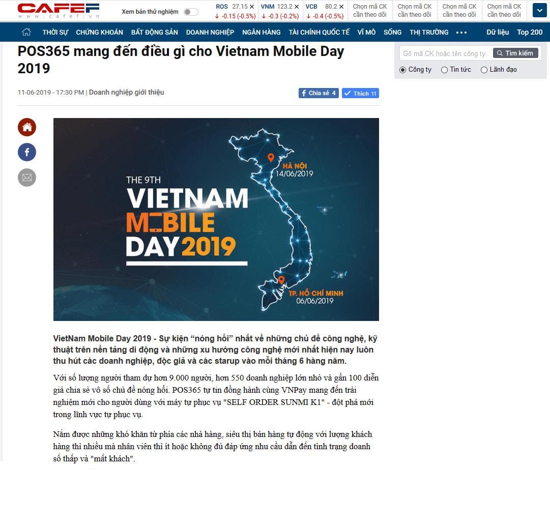 POS365 mang đến điều gì cho Vietnam Mobile Day 2019
